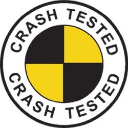 A common Crash Tested symbol